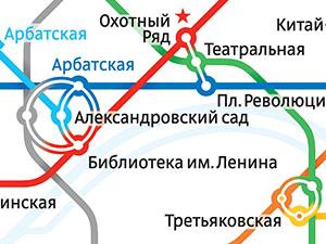 Схема Московского метро - Новое Пушкино